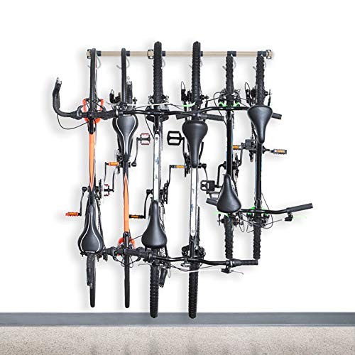 Monkey Bars Bike Storage Racks - Store Up to 6 Bikes - 200lb Weight Capacity (Desert Stone, 6 Bike)