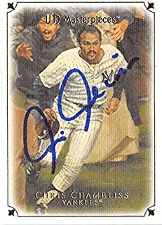 Chris Chambliss autographed Baseball Card (New York Yankees) 2007 Upper Deck Masterpieces 1976 ALCS HR #81