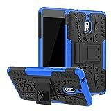 LFDZ Nokia 2.1 Hülle, Abdeckung Cover schutzhülle Tough Strong Rugged Shock Proof Heavy Duty Case Für Nokia 2.1 (Nicht für Nokia 2 2017),Blau