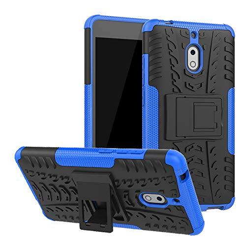 LFDZ Nokia 2.1 Custodia, Resistente alle Cadute Armatura Robusta Custodia Shockproof Protective Case Cover per Nokia 2.1 Smartphone (Nokia 2 2017),Blu