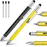Strumento tecnico Penna Cacciavite Strumento Penna Gadget Penna con righello Stilo 6 in 1 Penna multifunzione per uomini Ragazzi