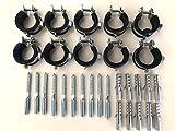 Sparset ---- 10 Stück Schraubrohrschelle 25-30 mm 3/4' mit Stockschraube 8x80 und Dübel 50x10