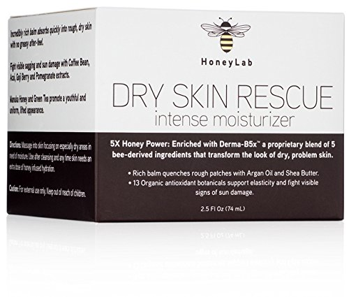 Honeylab Dry Skin Moisturizer Balm with Manuka Honey, Shea Butter,...