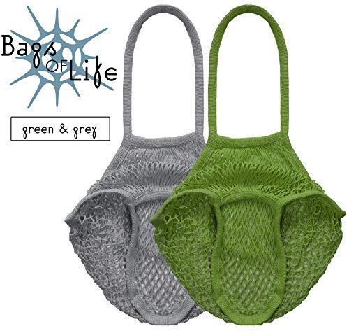 Bolsas de la vida – Bolsa de malla de algodón orgánico reutilizable...