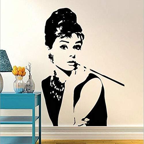 yaofale Weibliche Stern Vinyl Wandaufkleber, Klassische menschliche Engel Wandaufkleber, verwendet für Schlafzimmer Hauptdekoration, Wandkunst Wohnzimmer Dekoration