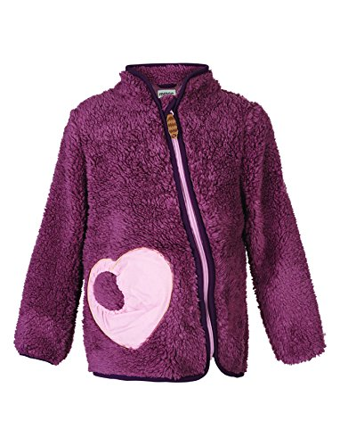 Racoon Mädchen Veronika Girl Teddyfleecejacke Jacke, Violett (Grape Shake GRA), 104