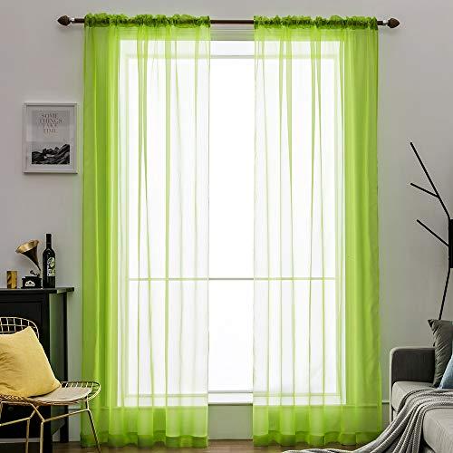 cortinas habitacion verde pistacho