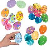 12PCS uova di Pasqua colorate dipinte di Pasqua di plastica uova di pasqua sveglio Sorpresa Giocattoli uova regalo di Pasqua per i bambini del rifornimento del partito