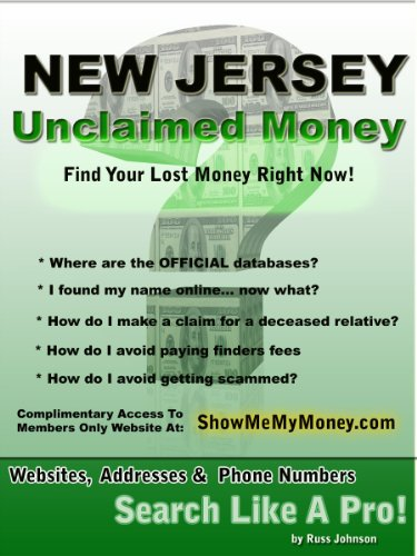 Amazon Com New Jersey Unclaimed Money How To Find Free Missing Money Unclaimed Property Funds Book 30 Ebook Johnson Russ Kindle Store