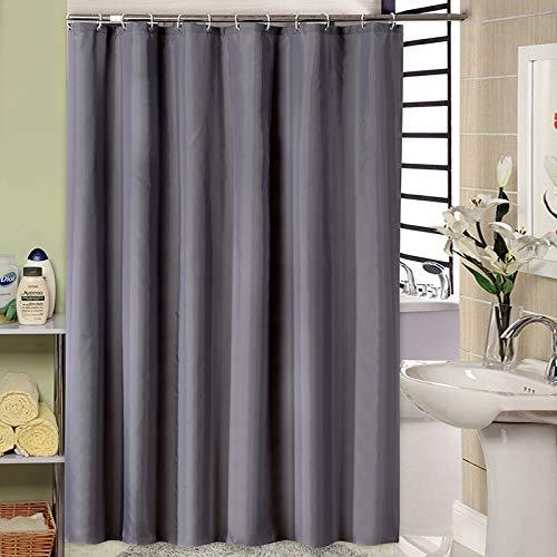JS-Bonita Verdickte Polyester Tuch Plain duschvorhang Hotel wasserdicht duschvorhang dunkelgrau duschvorhang (Farbe : 240 * 200 cm)