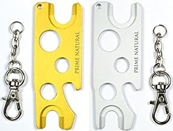 Prime Natural Essential Oil Opener Key Tool with Key Chain Removes Roller Balls Caps Rollers Fitments Euro Droppers - Golden & Silver  Pack of 2
