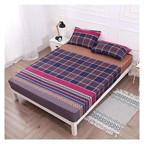 RHBLHQ Sábana Protector de colchón Impreso Cubierta de colchón Impermeable for Dormitorio Suave Ropa de Cama/Cama Doble (Color : Color 8, Size : 160X200X30cm)