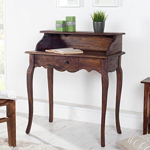 DESIGN DELIGHTS Edler Holz SEKRETÄR Napoleon | Mahagoni, Massivholz, braun, 80 cm | Schreibtisch