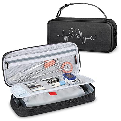 SITHON Bolsa de Estetoscopio, Estuche de Viaje para Fonendoscopio 3M Littmann MDF ADC y Otros Accesorios, Almacenamiento con Bolsillo de Malla para Enfermera Pediatras,