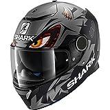 Shark Casco de moto SPARTAN REPLICA LORENZO GP MAT AKA, Negro/Anthracite, XS