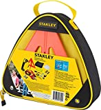 STANLEY ERK1S Car/Truck/SUV Roadside Emergency Safety Kit with Jumper Cables, Reflective Triangle, Blanket, Tools, and LED Headlamp