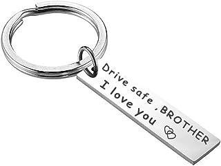 Meiligo Drive Safe Keychain I Love You Trucker dad mom Gift Grandpa Grandma Gift Uncle Aunt Gift Stocking Stuffer