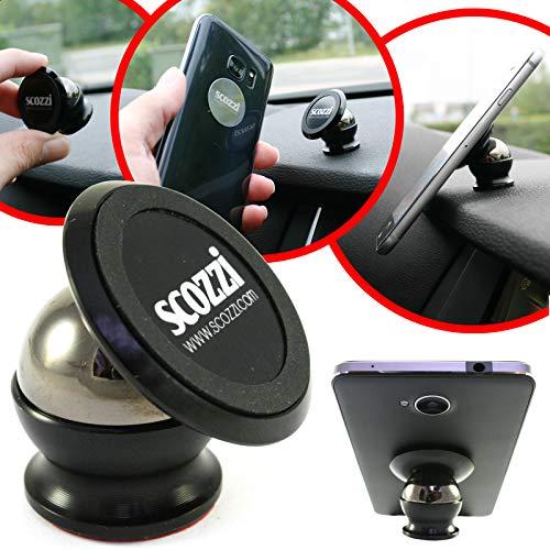 scozzi Universal Handyhalterung Auto Magnet Armaturenbrett KFZ Handy Halterung (kompatibel mit Huawei & Sony) P40 P30 P20 P8 Mate 30 20 10 X XS P Smart Y7 Y6 Y6s Y5 Y3 10 5 1 E5 Pro Plus Lite
