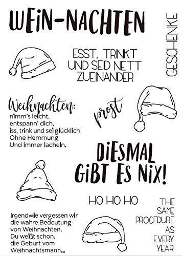Weihnachtsmütze Transparent Clear Silicone Stamp/Siegel für DIY Scrapbooking/Fotoalbum Dekorative klare Stempel M1216