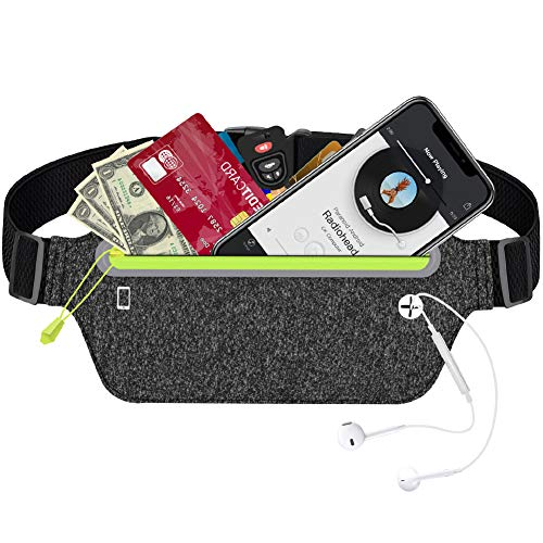 Winzwon Hüfttasche, Sport Hüfttasche, Bauchtasche, Wasserdichte Hüfttasche mit Kopfhöreranlass für Camping Wandern und Reisen Joggen für Damen, Herren und Kinder