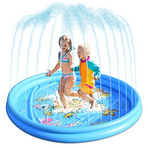kupet Aspersor Juegos de Agua para Niños, 180cm Agua Pulverizada, Splash Pad de 68Pulgadas MC021