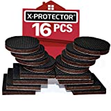 "Furniture Grippers X-PROTECTOR Non Slip Furniture Pads 16 Pack 2"" – Best Rubber Furniture Pads Couch Stoppers – Premium Self Adhesive Floor Protectors Furniture Pad for Keep in Place Furniture!"