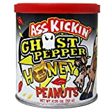 Ghost Pepper Honey Roasted Spicy Hot Peanuts – 4.25 oz - Ultimate Spicy Gourmet Gift Peanuts - Try if you dare!