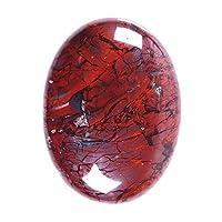 (Poppy Jasper) - 40x30mm Oval Cabochon CAB Flatback Semi-precious Gemstone Ring Face (Poppy Jasper)