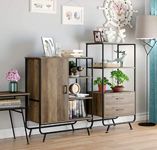 HOMECHO-Storage-Cabinet-Industrial-Accent-Kitchen-Buffet-Sideboard-Floor-Cabinet-with-Door-and-3-Side-Shelves-Rustic-Brown-for-Home-Office