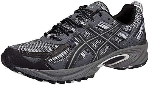 ASICS Men's Gel Venture 5 Trail Running Shoe, Silver/Onyx/Black, 11 M US