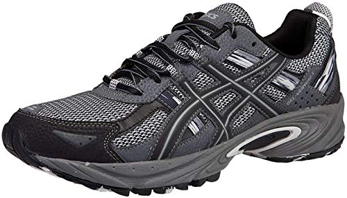 ASICS Men's Gel Venture 5 Trail Running Shoe, Silver/Onyx/Black, 12 M US