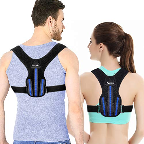 Posture Corrector for Men and Women, APPOLIS Upper Back Straightener Brace, Adjustable Device for Clavicle Support,Providing Pain Relief From Neck, Back and Shoulder (Universal)