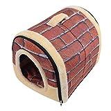 千楽 ペットハウス 犬小屋 ドーム型 ペット用 ハウス 犬用 猫用 猫ハウス ベッド 折りたたみ式 (L, レンガ)