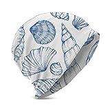 Pantaloni da Spiaggia di Grandi Dimensioni Conchiglie di Mare Blu Cappello a Cuffia in Cotone Nautico per Berretto Neonato Bambino/Ragazza Morbido