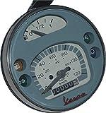 RS Vintage piezas RSV de b018fvkpe6–01411motocicleta piezas Valley Velocímetro cuentakilómetros/Vespa delantero LML PX Lusso 80, 125, 150, 200, 120km/h/80MPH gris