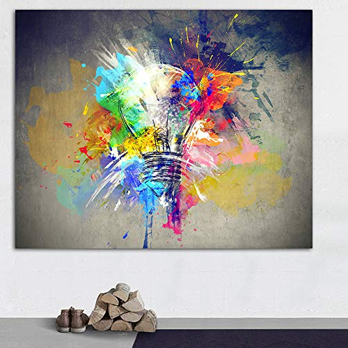 Lunderliny Abstract Oil Painting Posters And Print Wall Art Pictures Canvas Light Colorful Paintings For Living Room Home Decor 40x60cm