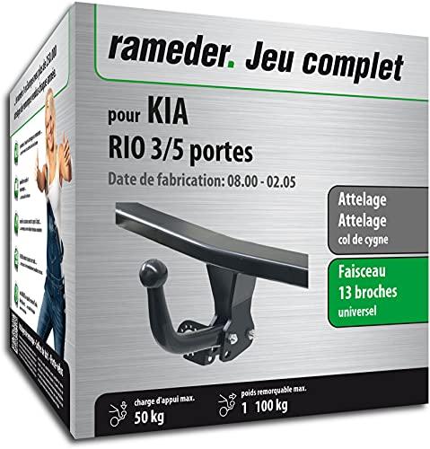Rameder Pack, attelage démontable avec Outil + Faisceau 13 Broches Compatible avec KIA Rio 3/5 Portes (161065-04645-1-FR).