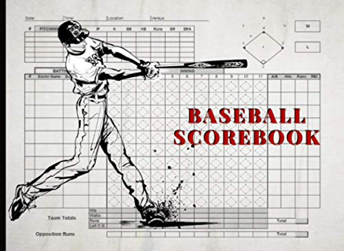Baseball Scorebook: Softball or Baseball Scorebook | Baseball Game Record Keeper Book | 100 Pages | 8.5 X 11 Inches