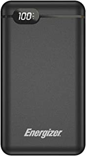 Energizer 20000 mAh 2.4A Rapid Charging Power Bank, Type-C and USB-A Outputs, Fast Recharging Type-C and micro-USB inputs,...