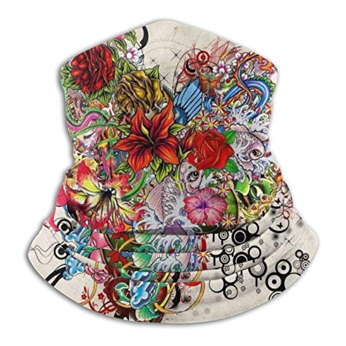 Towel&bag Pañuelo con diseño de flores y corazones, color negro