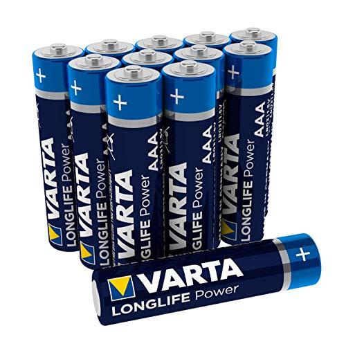 VARTA Longlife Power AA Micro LR06 Batterie (12er Pack) Alkaline Batterie - Made in Germany - ideal für Spielzeug Taschenlampe Controller und andere batteriebetriebene Geräte