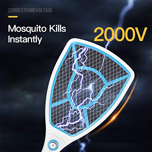 ZKYXZG Scacciamosche Elettrico Electric Mosquito Swatter Repellent Bug Insect Repeller Reject Killers Pest Reject Racket Trap Anti Mosquito Fly 1000mAh,Mosquito Swatter