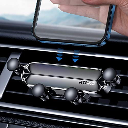 RTAKO Phone Car Holder, 2-in-1 Gravity Cell Phone Holder for Car Air Vent/Dashboard Cradle Car Phone Holder Mount Compatible with 4.0-6.7 inch Phone