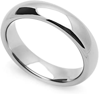 4MM Comfort Fit Stainless Steel Wedding Band Classic Domed Ring (Size 5 to 12)