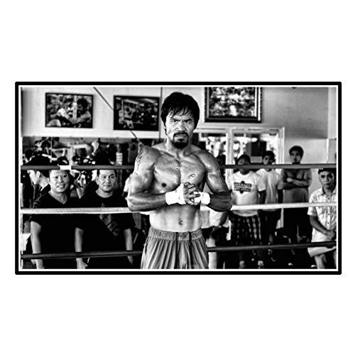 FEWFQ Manny Pacman Boxing Champion Art Poster Decoración Regalo Art Wall Canvas Poster Print Sala de Estar Decoración para el hogar -50x90cm Sin Marco 1 Uds