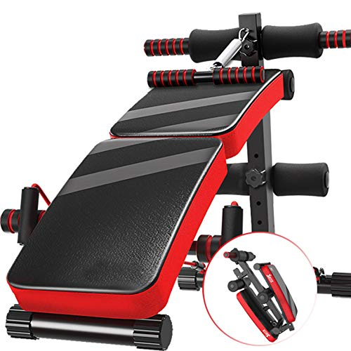 HOMRanger Multifunction Adjustable Workout Bench,Household Auxiliary Sit-up Board,Portable Foldable Weight Bench,Strength Training Bench Press D