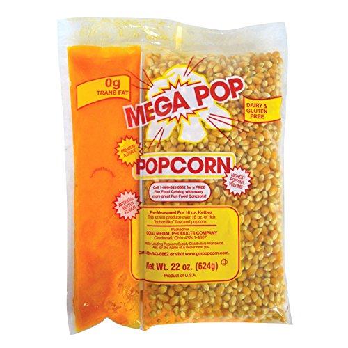 Read About Gold Medal Mega Pop Popcorn, Oil and Salt Kits - 16 oz. - 20 ct. case