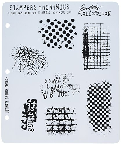 Stampers Anonymous CMS-075 Tim Holtz Cling Rubber Stamp Set, Ultimate Grunge