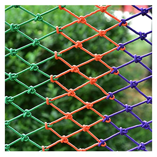 AWSAD Nylon Protection Net 10cm Grid Color Fence Decor Mesh Railing Stairs Safety Netting for Balcony,Garden,Playground Child Safety Net Color : 8mm Rope, Size : 10x10m(33x33ft)