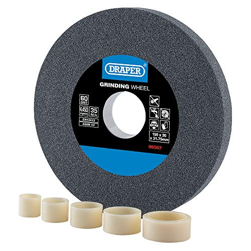 Draper 99567 Aluminium Oxide Bench Grinding Wheel 60G (150mm x 20mm)